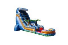 22ft Tropical Fireblast Tsunami Water Slide (Single Lane)