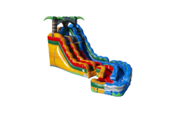 20ft Arctic Lava Tropical Twist Water Slide (Double Lane)