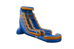 22ft Arctic Lava Crush Tsunami Water Slide (Single lane)