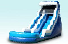 22ft Double Drop Water Slide Single Lane