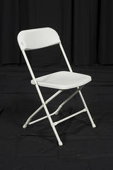 Chairs- White Plastic with Aluminum Framing