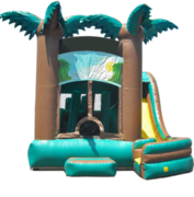 Rainforest Adventure Obstacle, Jumper Waterslide Combo