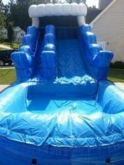 9' Blue Marble Wet Slide (J-13)