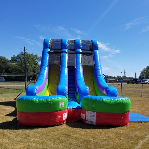 18' Dual Water Slide Retro (I-33)