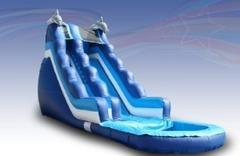 Large Dolphin Wet Slide (I-12) + pool