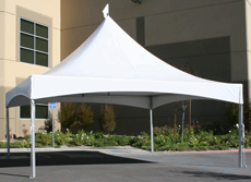 20x20 frame tent/pavement