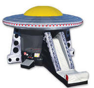 UFO invasion ship bounce house and slide