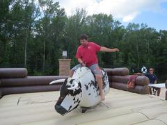 Mechanical Bull and Wipeout Game