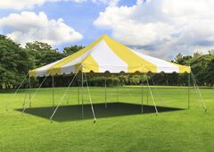 20 x 20 Yellow & white Tent