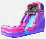 16 Foot Pink And Water Slide