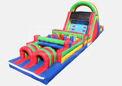Delux 51' Obstacle Course w/ 15' Slide