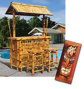 Tiki Bar W. Stools Customer Pick Up