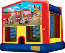 Fire Truck Fun Bounce Customer Pick Up