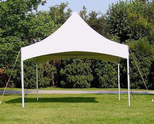 10x10 frame tent package for 10 people,(1) 8' Table 10 Chairs