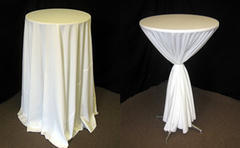 108 inch High Top Table Linen (tie not included)... special order