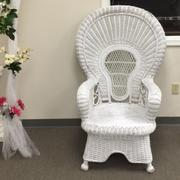 Shower wicker chair ( baby, wedding)