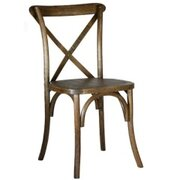 Chair, Crossback Rustic Wood