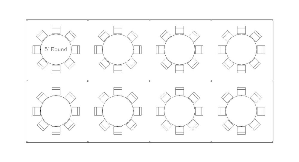 20x40 tent package layout