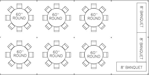 20x40 tent layouts