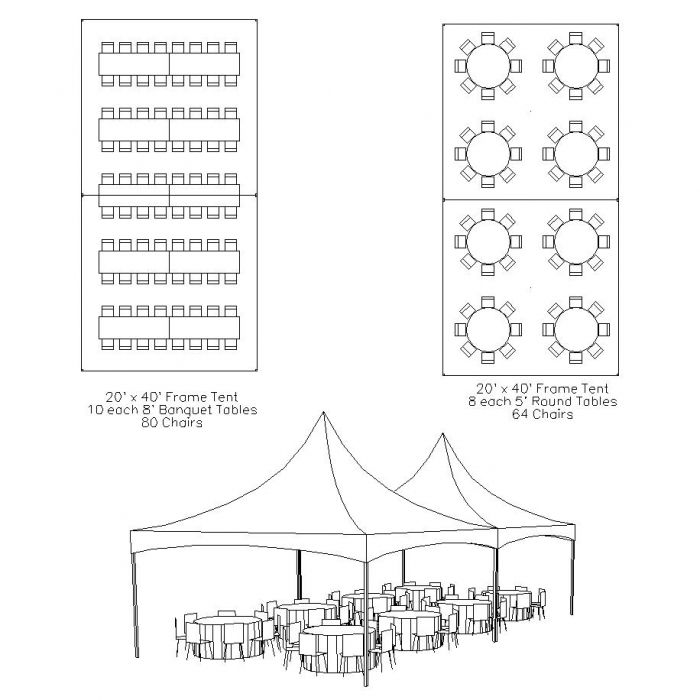 20x40 tent seating