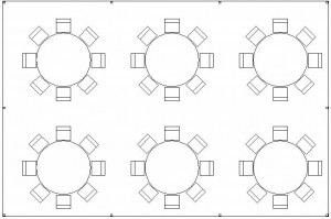20x30 tent package layout