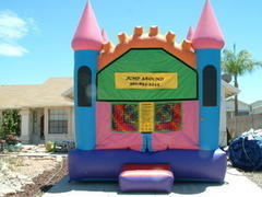 Pink Bouncy Castle 13x13