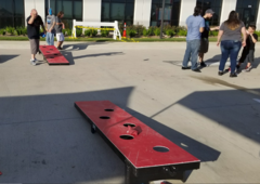 GIANT Corn hole bag toss game
