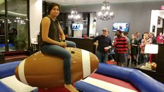 Mechanical bull - Football - american flag (includes 1 operator)