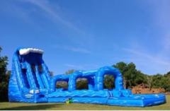 22' Blue crush water slide
