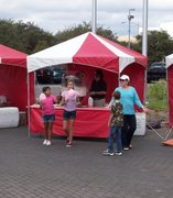 10'x10' carnival tents (red and white)