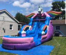 Unicorn Water Slide 18'