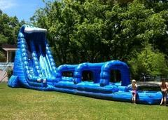 27' Blue crush water slide