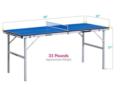 MINI ping pong - incl 2 paddles and 5 balls