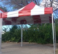 8'x8' carnival tents (red and white) AMW