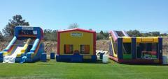 Inflatables are for Weekend rental delivered on Friday pickedup Monday