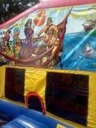 Pirate ship large bounce house