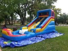 Slide N Splash wet sliden with POOL