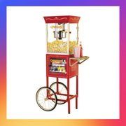 4 oz POPCORN MACHINE W/CART
