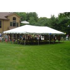 20x40 Party Tent Package with Round Tables and Chairs
