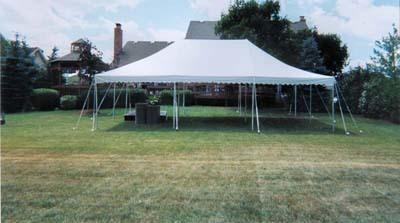 20x30 Party Tent Package with Tables & Chairs