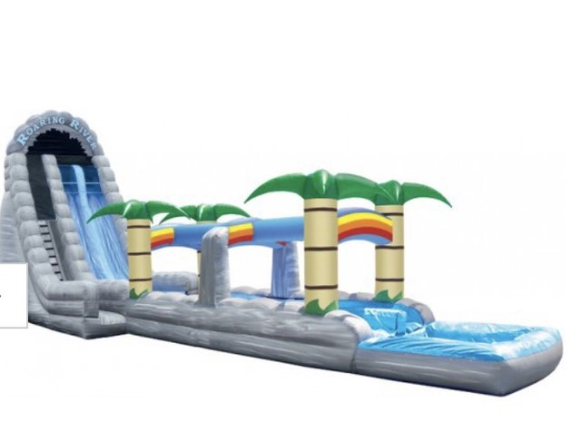 27 ft Roaring River Two-Lane Water Slide with Slip and Slide