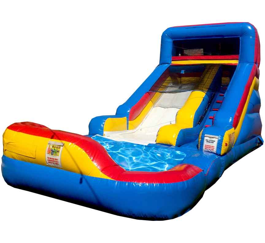 Sliden Splash Water Slide with Pool rentals in Austin Texas from Austin Bounce House Rentals