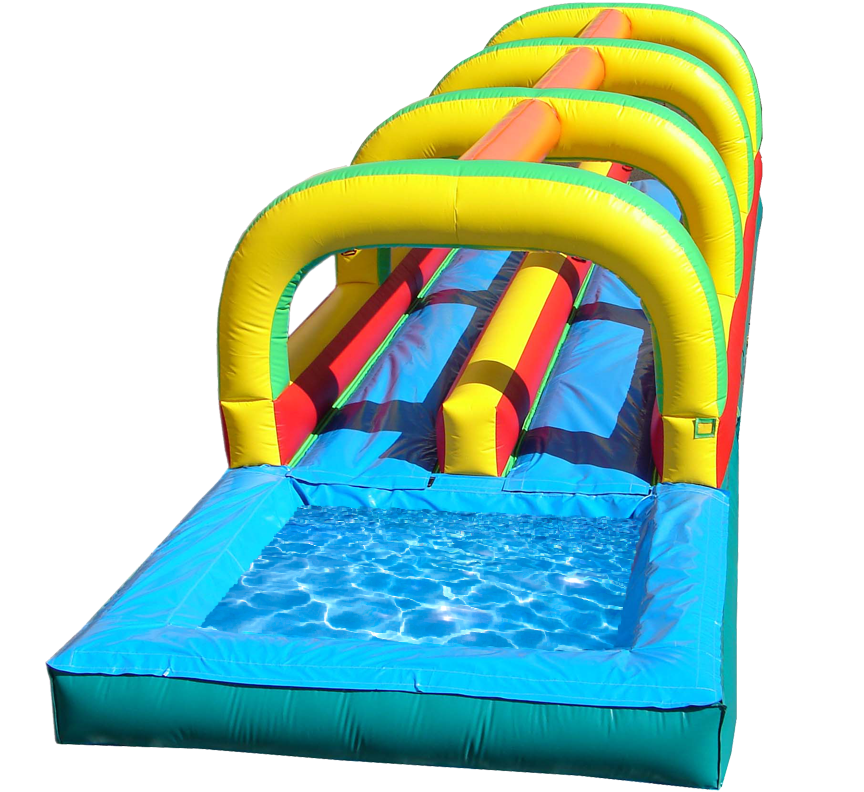Slip and slide water slide for Summer fun in Austin Texas from Austin Bounce House Rentals