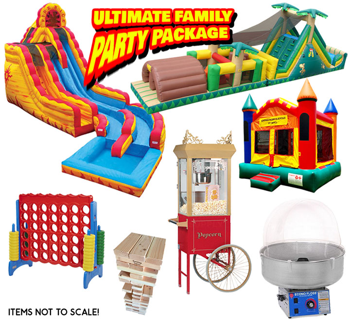 Ultimate Family Party Package in Austin Texas from Austin Bounce House Rentals