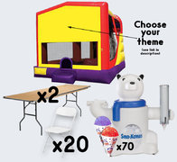 XL Combo + Sno-Cone with 2 Tables + 20 Chairs (adult)