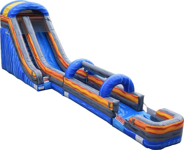 20' Blue Marble Water Slide