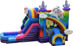 Unicorn Bounce House Combo