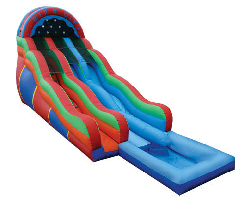 double lane water slide