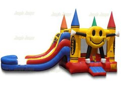 Happy Face dual lane Water Slide