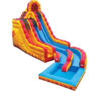 Fire'n Ice Dual Lane Water Slide